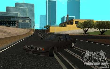 BMW 525 (E34) para GTA San Andreas esquerda vista