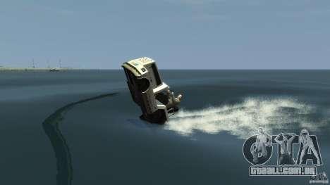 Airtug boat para GTA 4 vista de volta