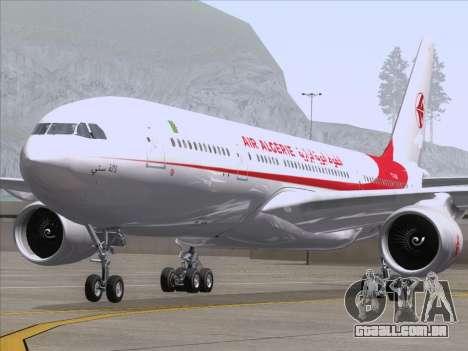 Airbus A330-203 Air Algerie para GTA San Andreas vista interior
