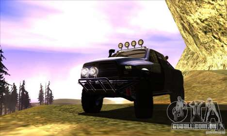 Dodge Ram All Terrain Carryer para GTA San Andreas vista interior