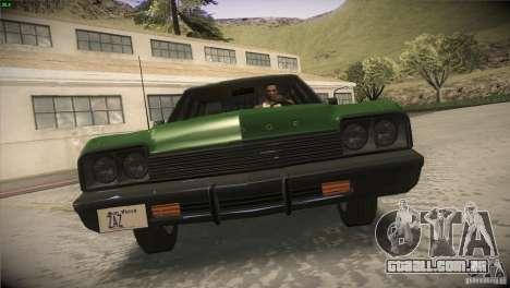 Dodge Monaco para GTA San Andreas vista superior