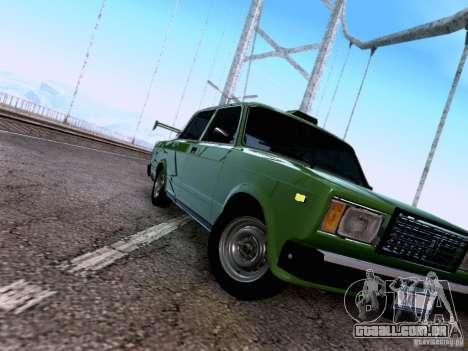 VAZ 2107 para GTA San Andreas interior
