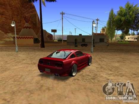 Ford Mustang GT 2005 Tuned para GTA San Andreas traseira esquerda vista
