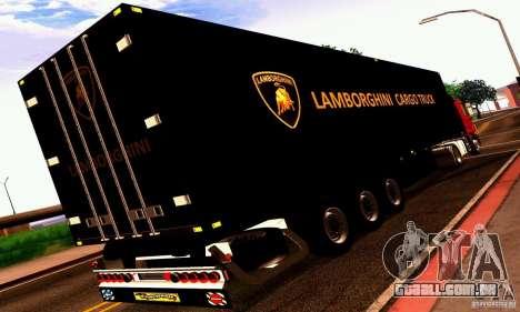Lamborghini Cargo Truck para GTA San Andreas vista direita