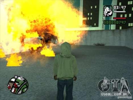 Fumaça saindo debaixo das rodas, como no NFS Pro para GTA San Andreas quinto tela