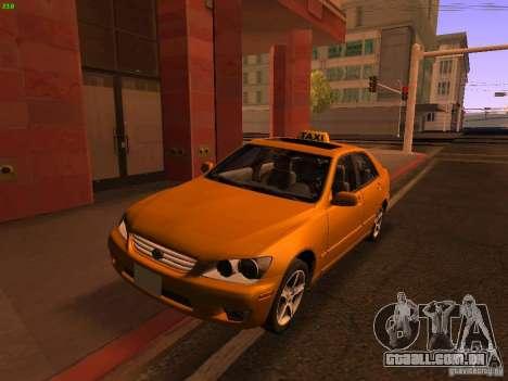 Lexus IS300 Taxi para GTA San Andreas