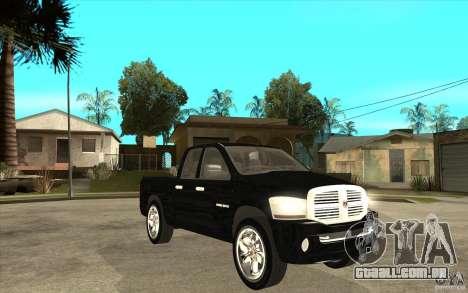 Dodge Ram 2500 2008 para GTA San Andreas vista traseira