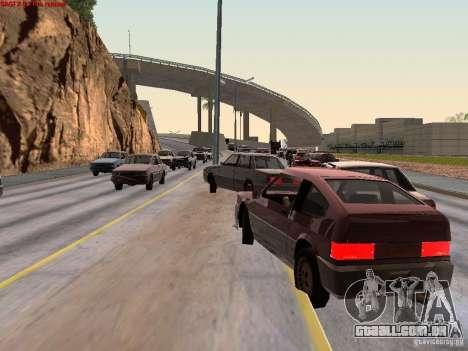Realistic traffic stream para GTA San Andreas segunda tela