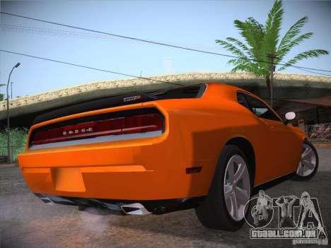 Dodge Challenger SRT8 v1.0 para GTA San Andreas vista traseira