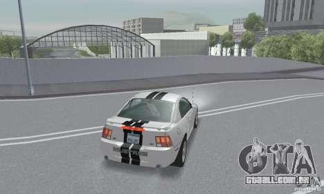 Ford Mustang GT 2003 para GTA San Andreas vista inferior