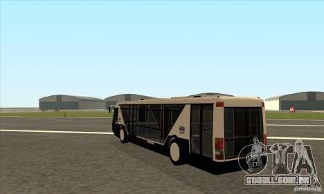 Neoplan Airport bus SA para GTA San Andreas traseira esquerda vista