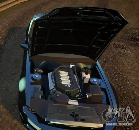 Ford Mustang GT Convertible 2013 para GTA 4 vista interior