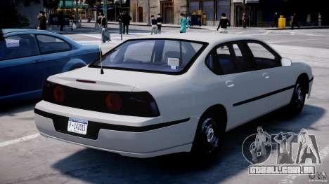 Chevrolet Impala Unmarked Police 2003 v1.0 [ELS] para GTA 4 traseira esquerda vista