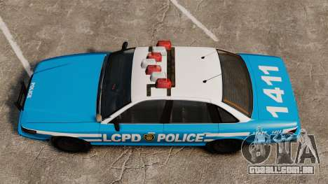 Vapid Police Cruiser ELS para GTA 4 vista direita