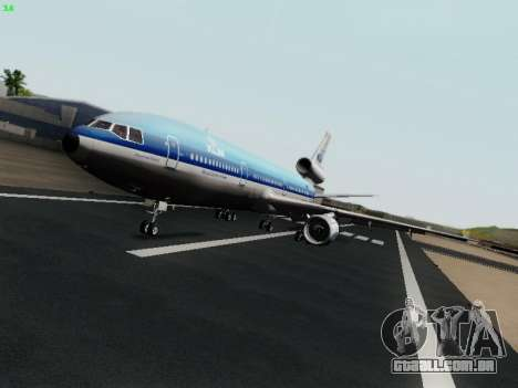 McDonell Douglas DC-10-30 KLM Royal Dutch para GTA San Andreas