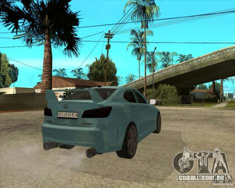 2007 Lexus IS350 para GTA San Andreas