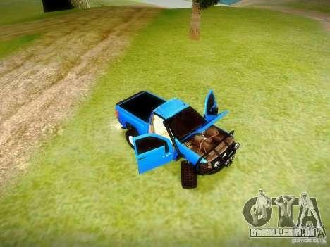 Chevrolet Silverado OFFRoad para GTA San Andreas vista traseira