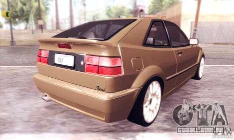Volkswagen Corrado para GTA San Andreas vista traseira