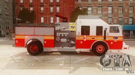 FDNY Seagrave Marauder II para GTA 4 esquerda vista