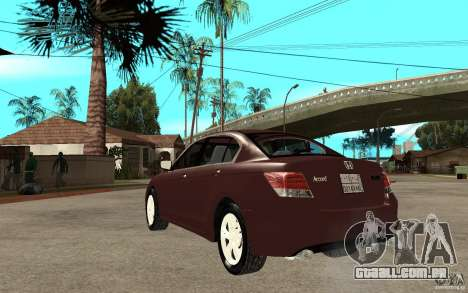 Honda Accord 2009 para GTA San Andreas