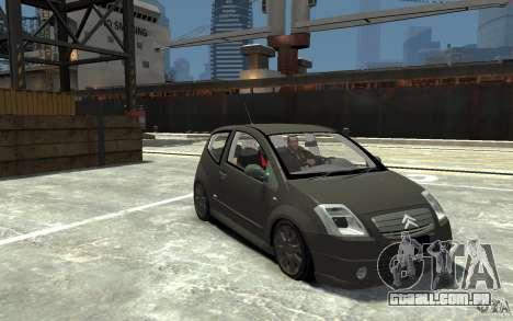 Citroen C2 para GTA 4 vista de volta