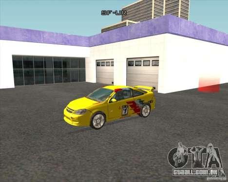 Chevrolet Cobalt SS para GTA San Andreas esquerda vista