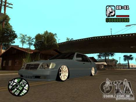 Mercedes-Benz S600 para GTA San Andreas esquerda vista