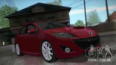 Mazda Mazdaspeed3 2010 para GTA San Andreas vista traseira