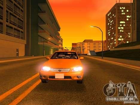 Lexus IS300 Taxi para GTA San Andreas interior
