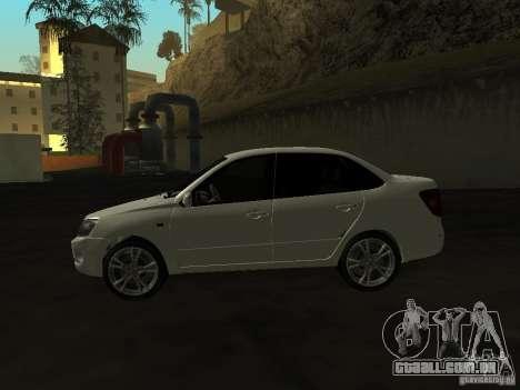 Lada 2190 Granta para GTA San Andreas traseira esquerda vista