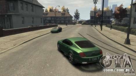 Bentley Continental SS para GTA 4 vista direita