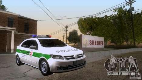 Volkswagen Voyage Policija para GTA San Andreas vista traseira