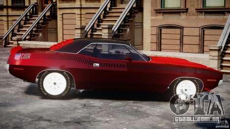Plymouth Cuda AAR 340 1970 para GTA 4 esquerda vista