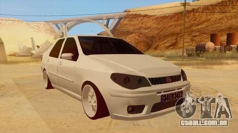 Fiat Albea para GTA San Andreas vista traseira