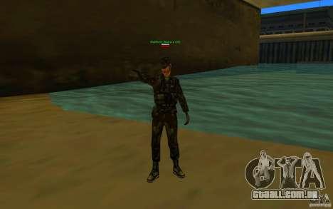 HQ skin Army para GTA San Andreas segunda tela
