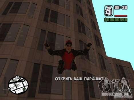 Skydiver para GTA San Andreas quinto tela