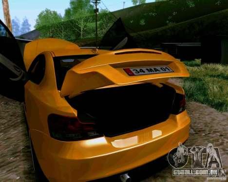 BMW 135 Tuning para GTA San Andreas vista traseira