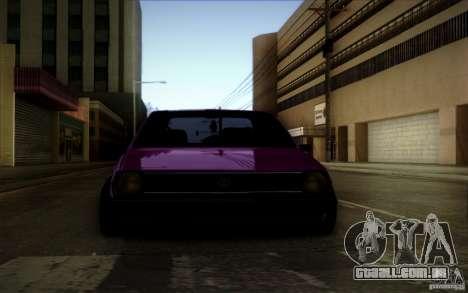 Volkswagen Polo Pickup para GTA San Andreas vista traseira
