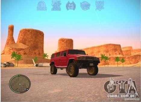Patriota do GTA 4 para GTA San Andreas traseira esquerda vista