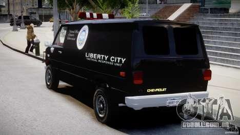 Chevrolet G20 Van V1.1 para GTA 4 traseira esquerda vista