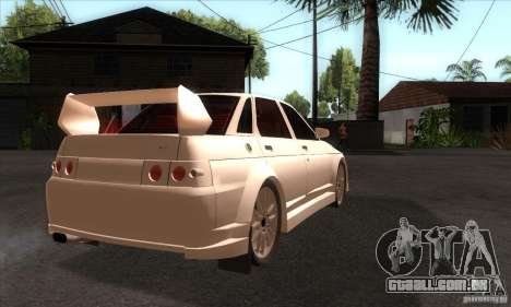 WRC VAZ 2110 para GTA San Andreas vista direita