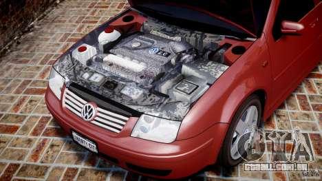 Volkswagen Bora para GTA 4 vista interior