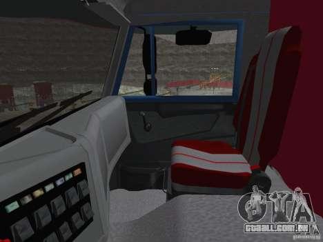KAMAZ 65222 para GTA San Andreas vista interior