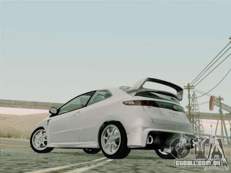 Honda Civic TypeR Mugen 2010 para vista lateral GTA San Andreas