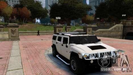 Hummer H2 para GTA 4 traseira esquerda vista
