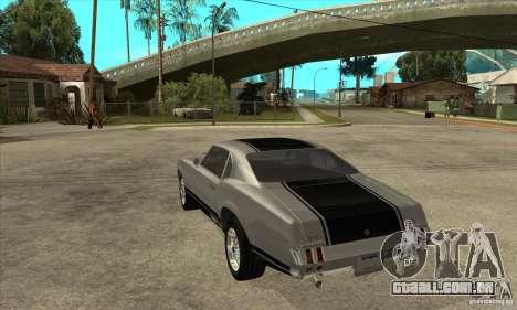 Sabre de GTA 4 para GTA San Andreas traseira esquerda vista