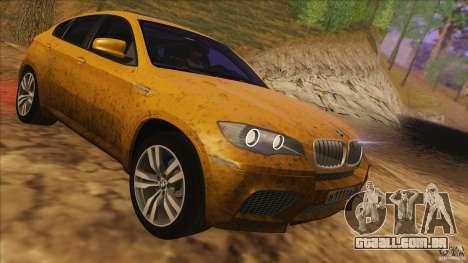 BMW X6M E71 v2 para GTA San Andreas vista interior