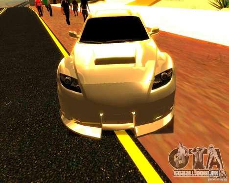 Mazda RX8 para GTA San Andreas vista traseira