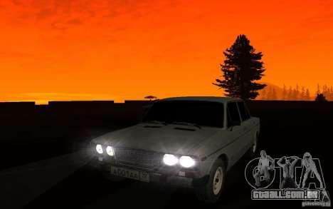 VAZ 2106 Tyumen para GTA San Andreas vista superior