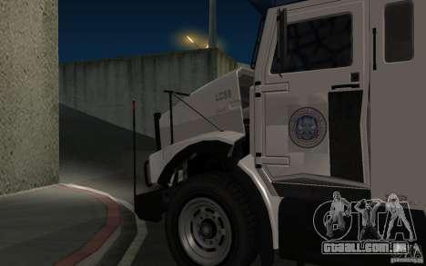 Securicar do GTA IV para GTA San Andreas traseira esquerda vista